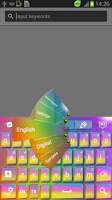 Screenshot of Color Skin for Keyboard