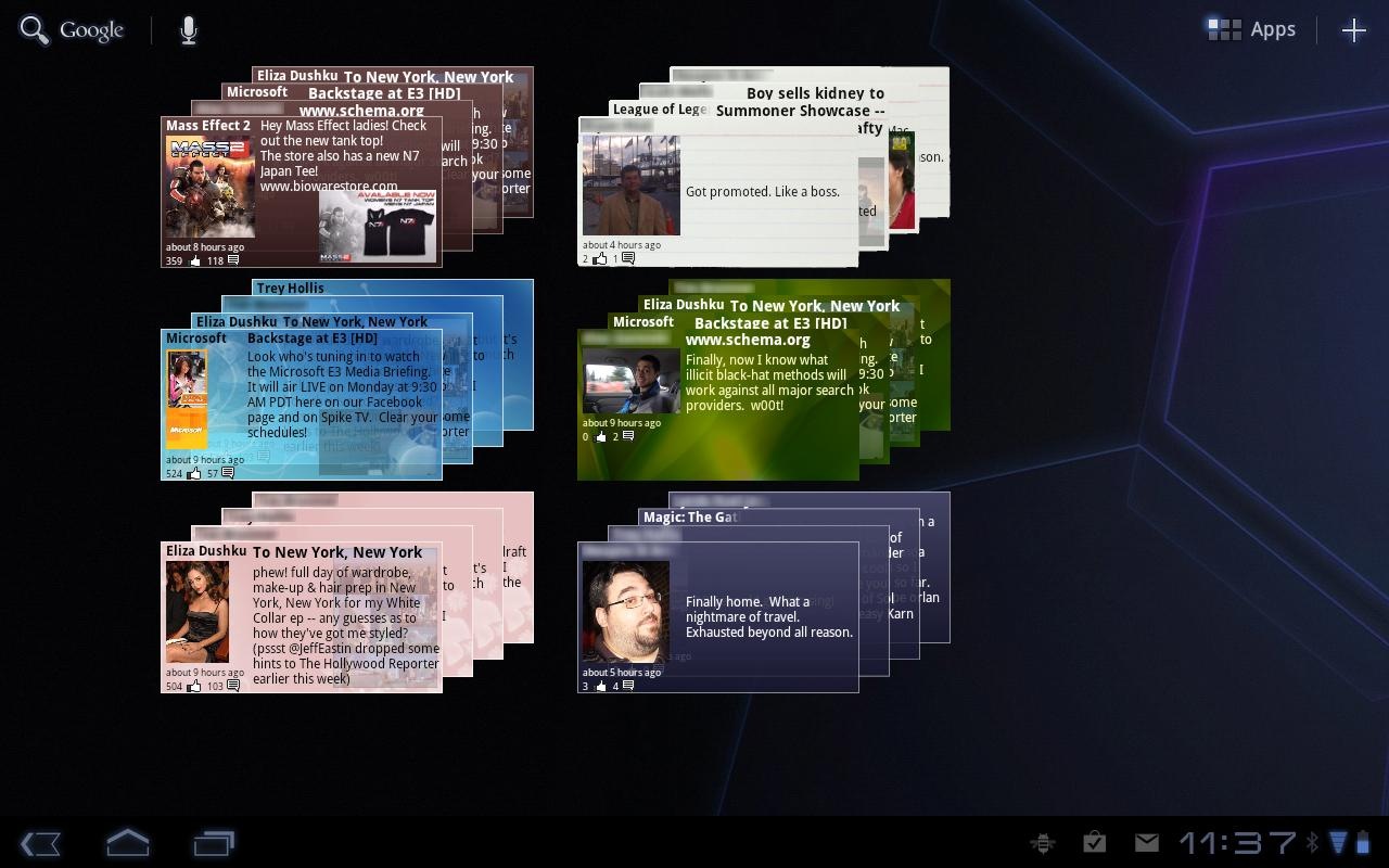 The Obelisk, a Facebook Widget - screenshot