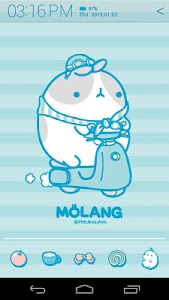 Molang IceCream Blue Atom screenshot 1