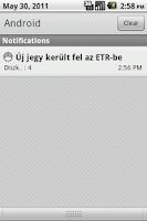 Screenshot of ETRDroid