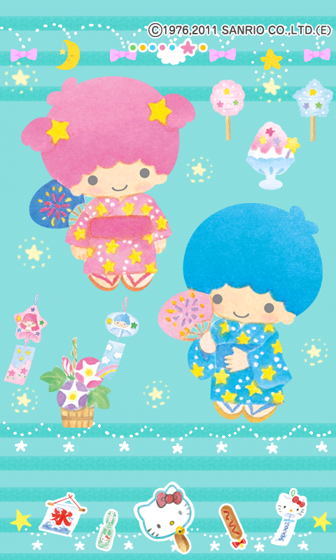 little twin stars wallpaper android
