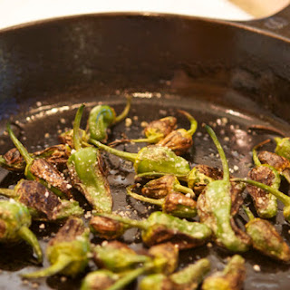 Roasted Padron Peppers.