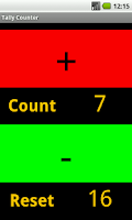 Screenshot of Handy In\Out Tally Counter