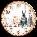 森のウサギ時計ウィジェット icon