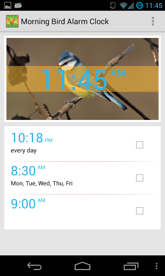 Bird Quiz Alarm Clock- screenshot