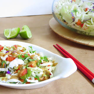 Thai Crunch Salad with an Absolutely AMAZING Peanut Dressing.