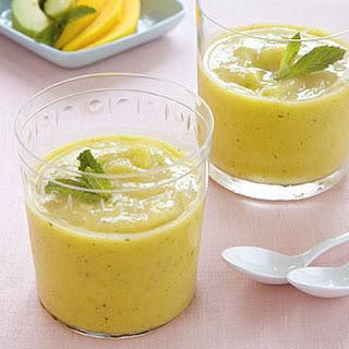 Creamy Mango, Avocado, and Lime Smoothie.
