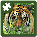 Wild animals puzzle: Jigsaw logo