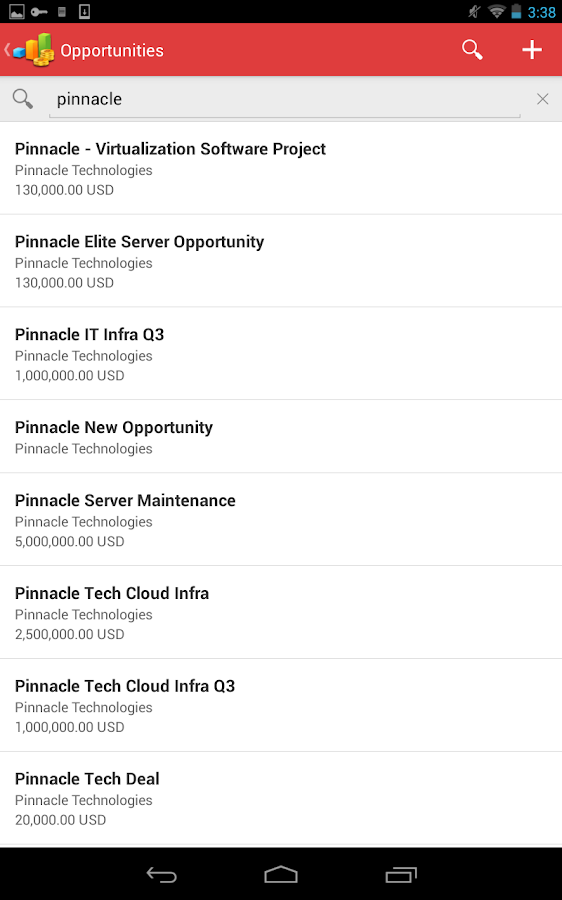 Oracle Sales Cloud Mobile - screenshot