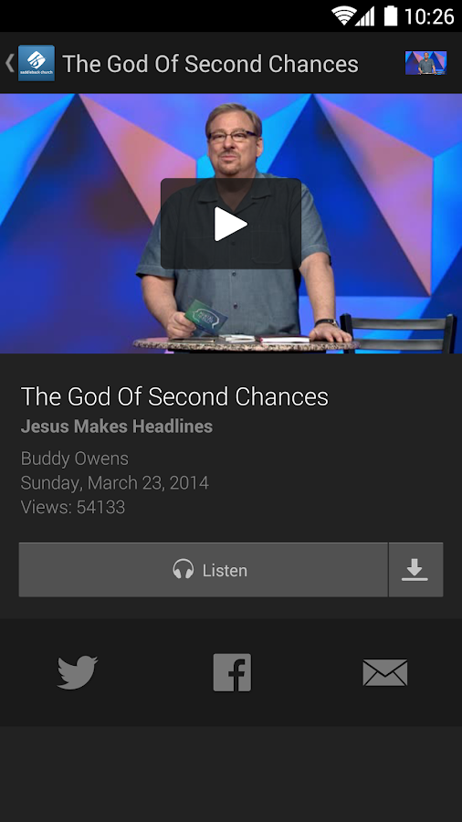 Saddleback Church- screenshot
