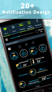 Weather Rise Clock 30+ Widgets screenshot 1