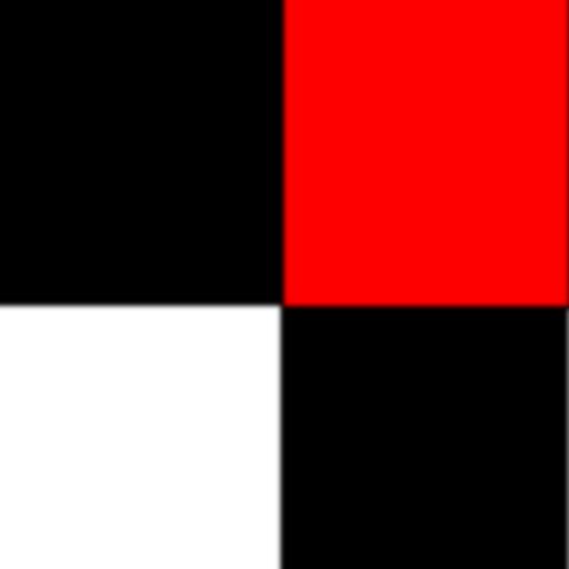 Schwarze und weiße Fliesen LOGO-APP點子