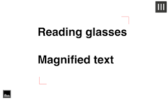 Screenshot of Magnifier Reading glass