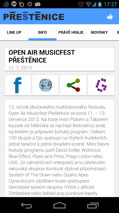 Open Air Musicfest Přeštěnice - screenshot