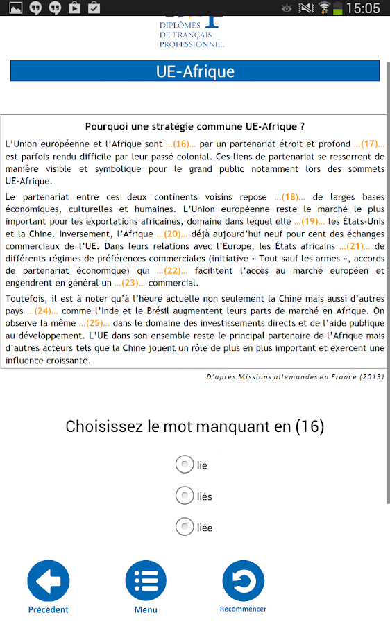 français 3.0- screenshot