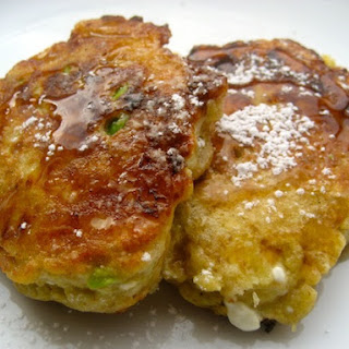 Fluffy Avocado Cottage Cheese Pancakes.