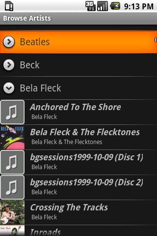 SqueezeDroid - Beta- screenshot