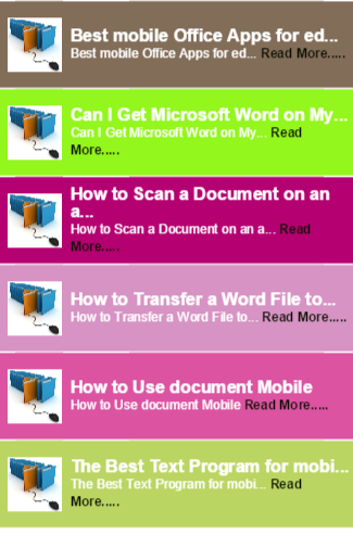 editting document for mobile