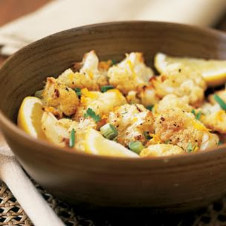 Cauliflower with Orange Zest and Green Onion