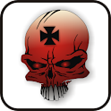Skull IronCross doo-dad red logo