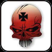Skull IronCross doo-dad red