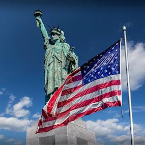 Liberty Flag by RomanDA Photography - Buildings & Architecture Public & Historical ( al, statue of liberty, vulcan, birmingham )