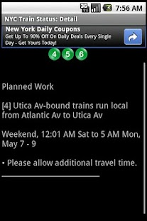 NYC Train Status- screenshot thumbnail
