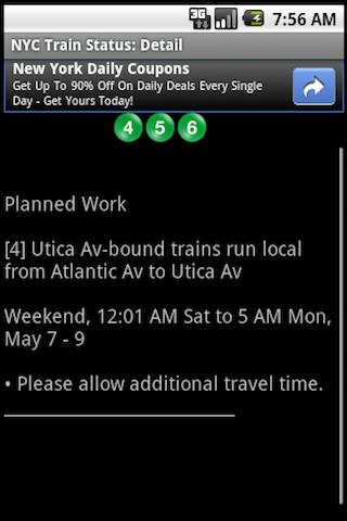 NYC Train Status- screenshot