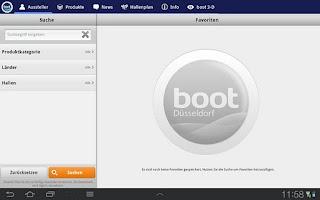 Screenshot of boot Düsseldorf App