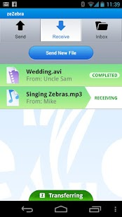 ZeZebra Share big video files - screenshot thumbnail