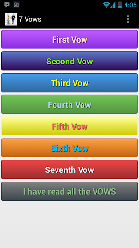【免費教育App】Seven vows of Hindu Marriage-APP點子