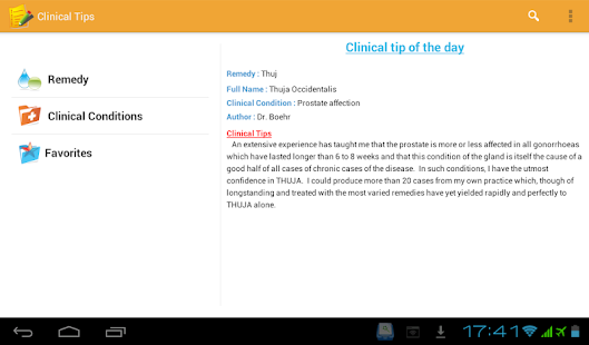Homeopathic Clinical Tips Lite - screenshot thumbnail