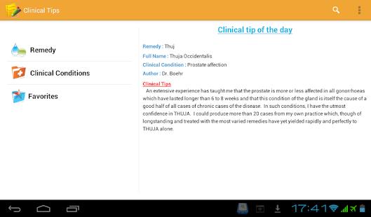 Homeopathic Clinical Tips Lite - screenshot thumbnail