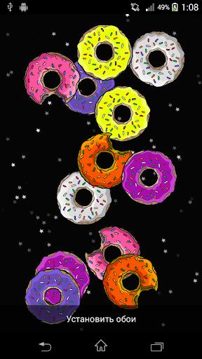 Звёздные пончики Живые обои