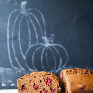 Fall Cranberry Pumpkin Bread.