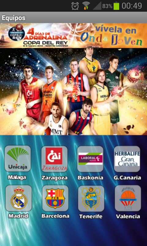 Copa del Rey baloncesto 2014 - screenshot