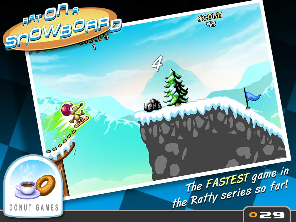Screenshots of Rat On A Snowboard for iPhone