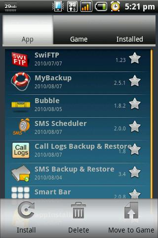 App Backup & Reinstall- screenshot