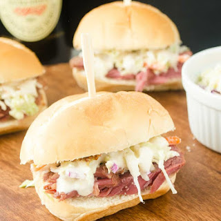 Guinness Corned Beef Sliders {Slow Cooker}