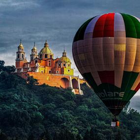Balloon and Church by Cristobal Garciaferro Rubio - Transportation Other