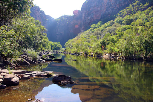 Australia-Northern-Territory-Kakadu-River-Landscape - See the Kakadu River during a G Adventures expedition of the Northern Territory of Australia.