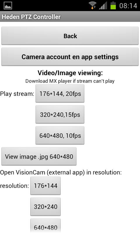 Heden PTZ Controller - screenshot