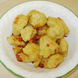 Potato Dumplings with Bacon and Onions