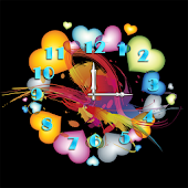 Heart Clock LiveWallpaper Free