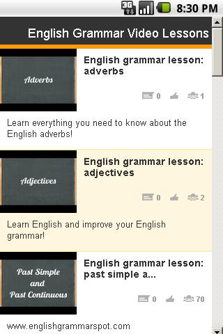 English Grammar Video Lessons