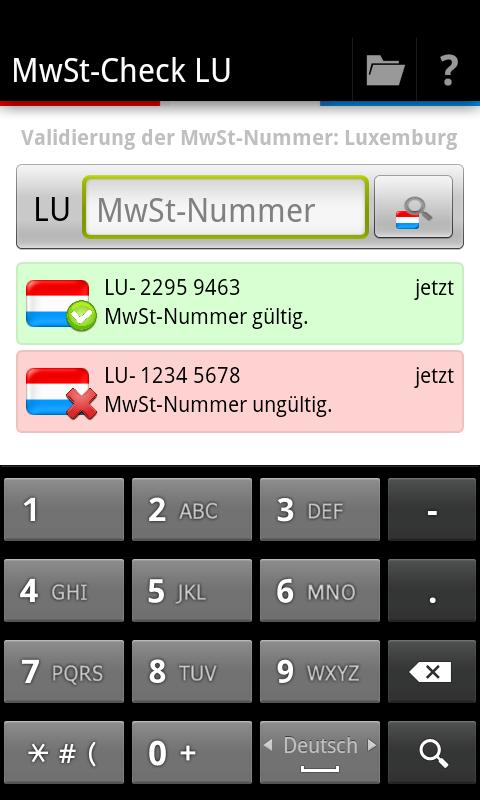 MwSt-Check LU- screenshot