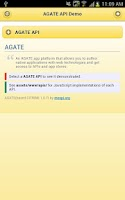 Screenshot of Agate API