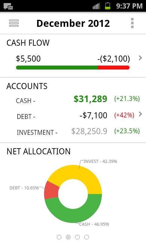 One Money Personal Finance - screenshot