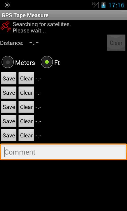 GPS Tape Measure- screenshot