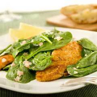 Parmesan-crusted Chicken & Spinach Salad.